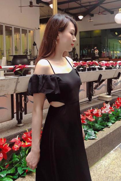 Chixxie Lynn Maxi Dress in Black