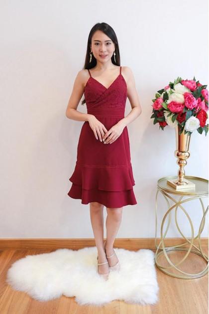 Chixxie Becca Dress in Red