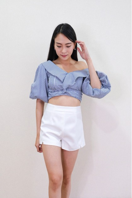 Chixxie Angie Off-Shoulder Striped Top