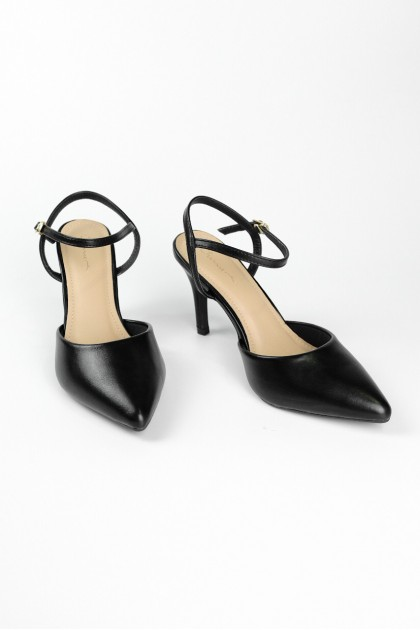 Chixxie Ankle Strap Pumps in Black