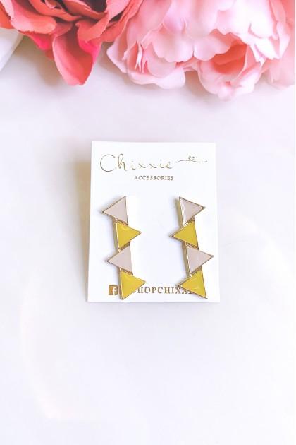 Colourful Triangle Earrings